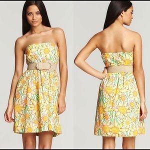 Lilly Pulitzer Daffodil Wyatt Strapless Dress